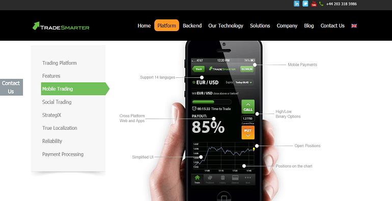Мобильный трейдинг Tradesmarter