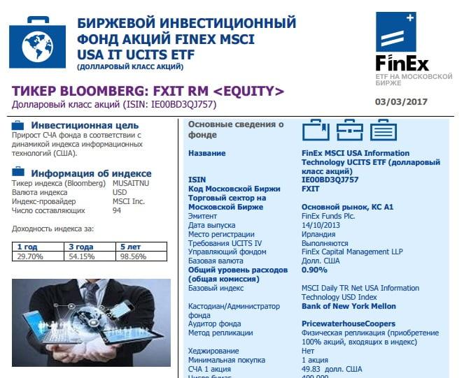 ETF IT-сектор