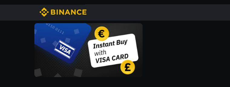 Binance разрешила пользователям покупать криптовалюту через Visa карты