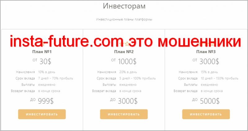 insta-future.com мошенники