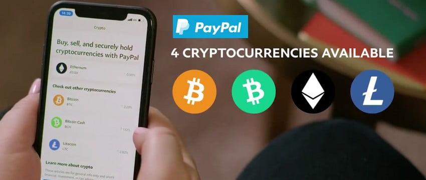 через PayPal жители Великобритании могут покупать и продавать криптовалюты